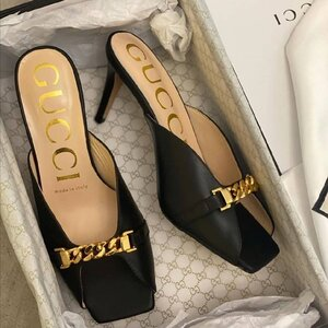 Used Gucci mid-heel slide with chain in Dubai, UAE
