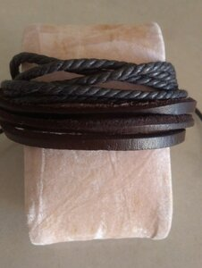 Used New men's leather bracelet in Dubai, UAE