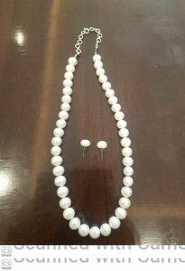 Used White pearl silver necklace in Dubai, UAE