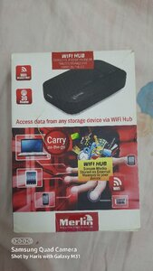 Used New:Merlin:wifi hub:3G router,wifi in Dubai, UAE