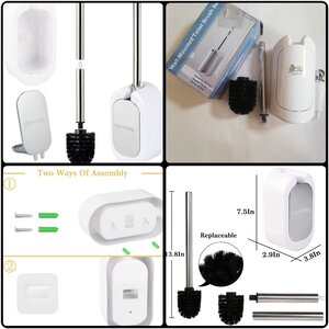 Used 2pcs Homewal mounted toilet brush&holder in Dubai, UAE