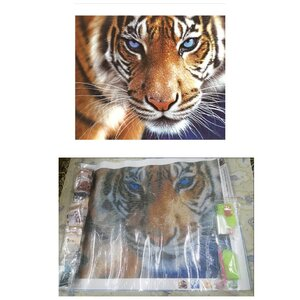 Used Diy 5D Diamond Painting Tiger Partial Ro in Dubai, UAE