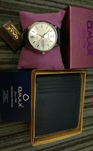 Used Omax WATCH BLUE➕LEATHER WALLET BLUE in Dubai, UAE