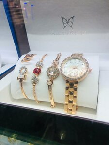 Used rosegold color bracelets and watch in Dubai, UAE