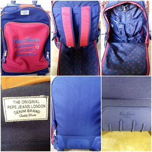 Used Pepe jeans London denim brand wheel bag in Dubai, UAE