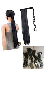 Used Wrap Around Hair Extension 4 Pcs in Dubai, UAE