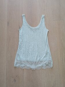 Used H&M Mint Green Beaded Top Size XS in Dubai, UAE
