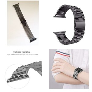 Used Stainless Steel Apple Strap Black in Dubai, UAE