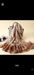 Used Dior scarf - brown in Dubai, UAE