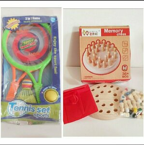 Used Table Tennis Set & Memory Chess Game.. in Dubai, UAE