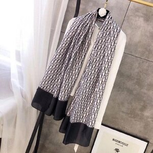 Used Dior scarf - black in Dubai, UAE