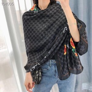 Used Gucci black scarf, flowery in Dubai, UAE