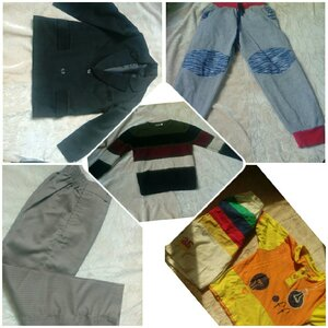 Used 30 pieces kids clothes mixed condition in Dubai, UAE