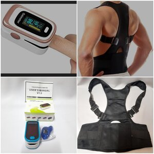 Used Back Support + Finger Pulse Oximeter New in Dubai, UAE