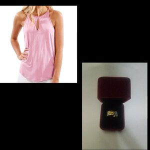 Used Girls top + Ring free;: in Dubai, UAE