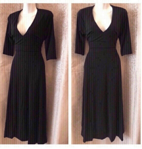 Used Black dress with side pockets in Dubai, UAE