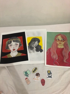 Used 3 posters and stickers  in Dubai, UAE