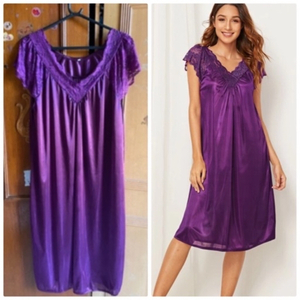 Used Satin purple nightwear  in Dubai, UAE