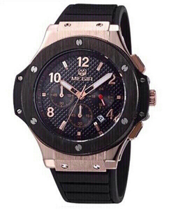 Used megir men watch with chronograph  in Dubai, UAE