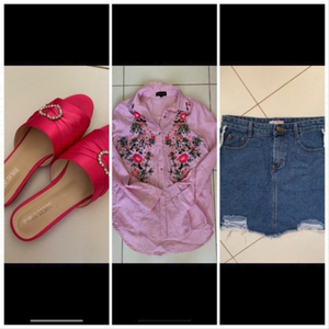 Used Skirt shirt and flats offer in Dubai, UAE