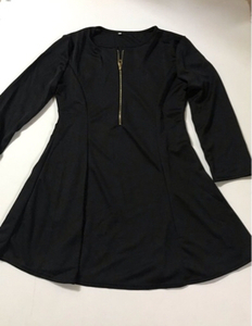 Used Black dress 👗 size large (new) in Dubai, UAE