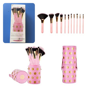 Used BH Cosmetics Pink dot Brushes - 11 piece in Dubai, UAE