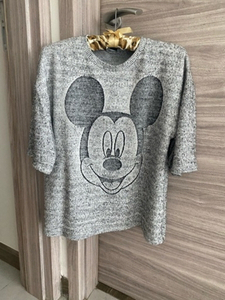 Used Zara Disney collection knit T-shirt 🤍🖤 in Dubai, UAE