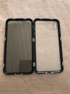 Used iPhone XS MAX X black double glass case in Dubai, UAE
