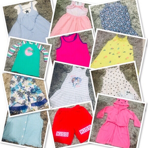 Used 12 Clothes for Girl 2-4 yr old ♥️ in Dubai, UAE