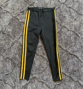 Used Bershka Black Yellow Stripe Legging in Dubai, UAE