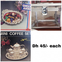 Used Fancy items Glass box vanity, silverware in Dubai, UAE