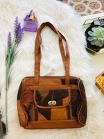 Used Patch Leather Long Handle Tote in Dubai, UAE