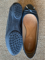 Used Geox Dark Blue Leather Ballerinas  in Dubai, UAE