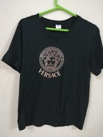 Used VERSACE printed logo T-shirt in Dubai, UAE