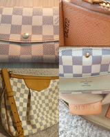 Used LV damier azur siracusa pm+emilie wallet in Dubai, UAE