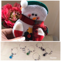 NEW 6pcs. Holiday Decors + Glass Charms