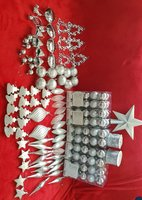 Used SILVER CHRISTMAS DECORS 2 - 183 Pcs in Dubai, UAE