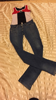 Used 28waist jeans and small size top  in Dubai, UAE