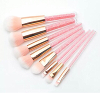 Used 8 light pink luxury makeup brushes  in Dubai, UAE