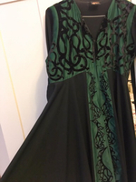 Used Geelato brand silk abaya with Sheila  in Dubai, UAE