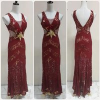 Used Elegant red long Dress for women. in Dubai, UAE