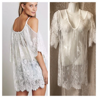 Used Beach lace top size L white  in Dubai, UAE
