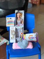 Used New Barbie doll,wipes,hair band & watch  in Dubai, UAE