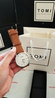 Used Original TOMI Leather Watch¤ Box&Bag_73 in Dubai, UAE
