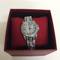 Ladies watch with sparkling watch