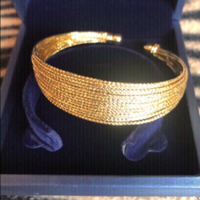 Used 2 bangles 18K gold plated  in Dubai, UAE