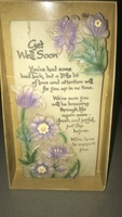 "Used ""Get Well Soon"" ceramic tablet in Dubai, UAE"