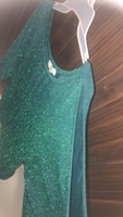 Emerald Green Sparkly Party Top