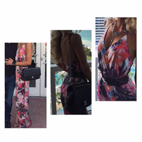 FIRE Los Angeles Palm Print Jumpsuit