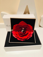 Used Gold ring box with rose  in Dubai, UAE